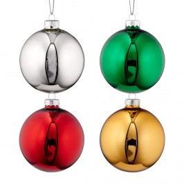 HANG ON Vánoční ozdoby set 4ks - více barev