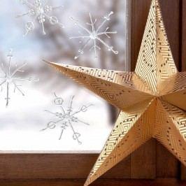 Obrázek WINTERWORLD Ledové krystaly 2 ks Vánoční dekorace na okno