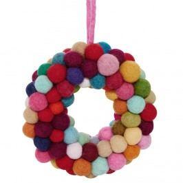 HANG ON Věnec s filcovými kuličkami Vánoční dekorace