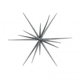 HALE BOPP Vánoční hvězda 35 cm - stříbrná