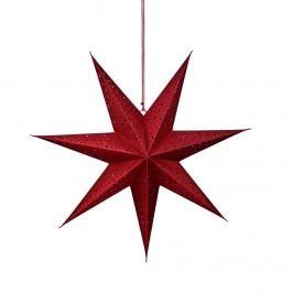 LATERNA MAGICA Papírová dekorační hvězda 60 cm - červená Vánoční dekorace na okno
