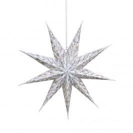 LATERNA MAGICA Papírová hvězda 60 cm - bílá/stříbrná