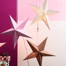 Obrázek LATERNA MAGICA Papírová dekorační hvězda 60 cm - lososová Vánoční dekorace na okno