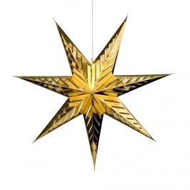 LATERNA MAGICA Papírová dekorační hvězda 80 cm - zlatá Vánoční dekorace na okno