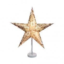 Obrázek LATERNA MAGICA Papírová dekorační hvězda 60 cm - zlatá/bílá Vánoční dekorace na okno