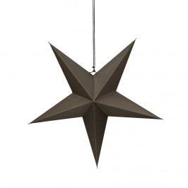 LATERNA MAGICA Papírová dekorační hvězda 60 cm - šedohnědá Vánoční dekorace na okno