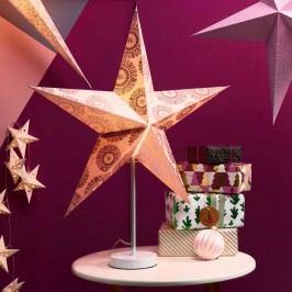 LATERNA MAGICA Papírová dekorační hvězda 60 cm - stříbrná