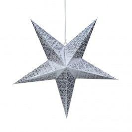 LATERNA MAGICA Papírová hvězda 60 cm - stříbrná/bílá