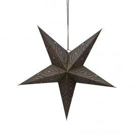 LATERNA MAGICA Papírová dekorační hvězda 60 cm - tm. šedá