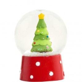 X-MAS Sněhová koule vánoční stromeček Vánoční dekorace
