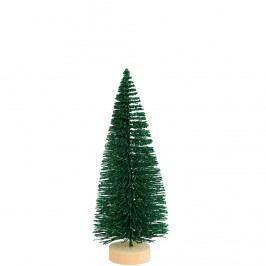 X-MAS Dekorační jedle se třpytkami, 17 cm - zelená Vánoční dekorace