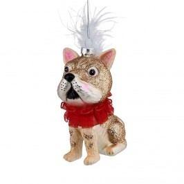 HANG ON Ozdoba pes s límcem Vánoční dekorace