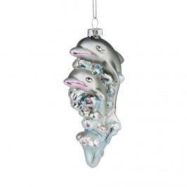 HANG ON Ozdoba delfín Vánoční dekorace