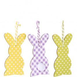 BUNNIES Dekorační zajíček set 3 ks Velikonoční dekorace