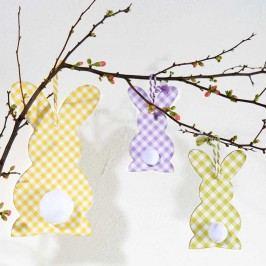 BUNNIES Dekorační zajíček set 2 ks - fialová