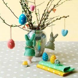 EASTER Filcová ozdoba vejce - modrá