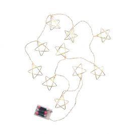 GEOMETRICS LED Světelný řetěz kovové hvězdy 10 světel