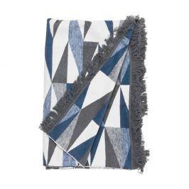 MACIO Flísová deka troúhelníky 150 x 200 cm