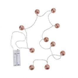 ORIENTAL LIGHTS Světelný řetěz kovové koule 10 světel