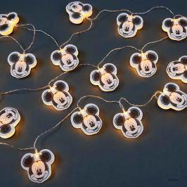 DISNEY LED Papírový světelný řetěz Mickey 20 světel