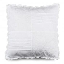 BO-MA Povlak na polštářek plátěný STP bílá, 40 x 40 cm,  Dekorační polštáře