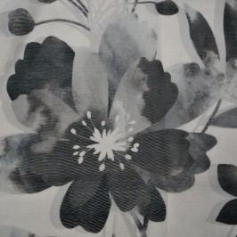 Albani Závěs s kroužky Sam květy černá, 135 x 245 cm