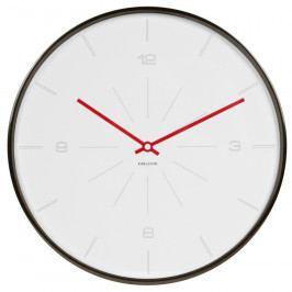 Karlsson 5644WH Designové nástěnné hodiny, 40 cm