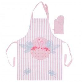 Trade Concept Dětská kuchyňská souprava Plameňák růžová