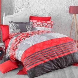 Kvalitex Bavlněné povlečení Delux Stripes červená, 240 x 220 cm, 2 ks 70 x 90 cm
