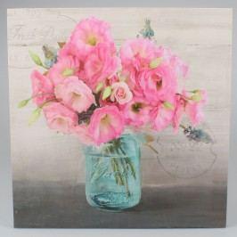 Obraz na plátně Růžové květy