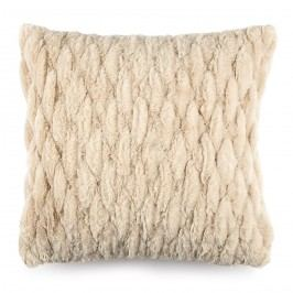 BO-MA Povlak na polštářek chlupatý prošívaný béžová, 45 x 45 cm
