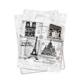 Matějovský kuchyňská utěrka Paris monuments, 50 x 70 cm, sada 2 ks