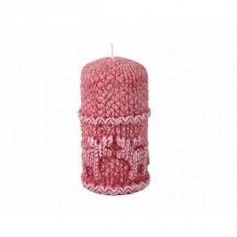 Stearinová svíčka Sob, červená