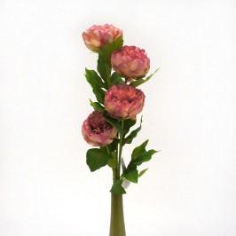 Umělá květina pivoňka, růžová, dárkové balení 4 ks,