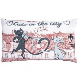 Trade Concept Povlak na polštářek Kočky ve městě, 30 x 50 cm, 30 x 50 cm