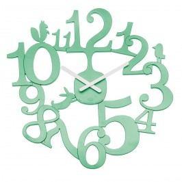 Koziol Nástěnné hodiny PI:P zelená, pr. 45 cm