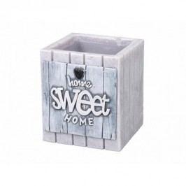 Dekorativní svíčka Home Sweet Home, šedá