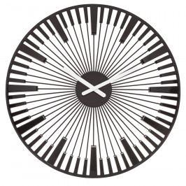 Koziol Nástěnné hodiny Piano černá, pr. 45 cm