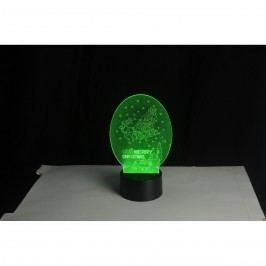 3D LED lampa Vánoční sáně