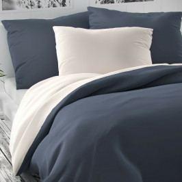 Kvalitex Saténové povlečení Luxury Collection bílá/tmavě šedá, 200 x 200 cm, 2 ks 70 x 90 cm