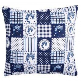 Trade Concept Povlak na polštářek Elegant patchwork modrá, 40 x 40 cm