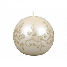 Vánoční svíčka Tiffany koule, béžová