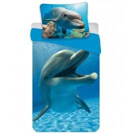 Jerry Fabrics Bavlněné povlečení Delfín blue, 140 x 200 cm, 70 x 90 cm