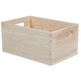 Dřevěná bedýnka Nature béžová, 30 x 20 cm,