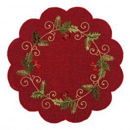 Forbyt Vánoční ubrus Cesmína červená, pr. 35
