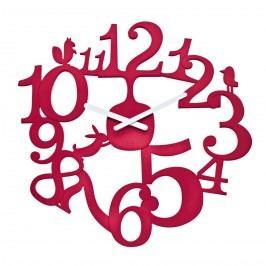 Koziol Nástěnné hodiny PI:P červená, pr. 45 cm Hodiny