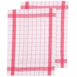 VOG Kuchyňská utěrka růžová, 50 x 70 cm, sada 2 ks