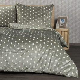 4Home povlečení mikroflanel Stars šedá, 140 x 200 cm, 70 x 90 cm, 140 x 200 cm, 70 x 90 cm