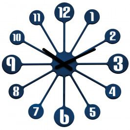 Koziol Nástěnné hodiny Pinball modrá, pr. 45 cm Hodiny