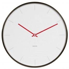 Karlsson 5643WH Designové nástěnné hodiny, 40 cm